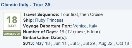 italy cruise tour
